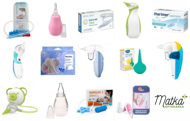Aspirator do nosa dla niemowląt i dzieci. Szkodzi czy pomaga, Który wybrać, Frida, Katarek, Nosiboo, Canpol, Marimer, Vitammy, gruszka do nosa, Matka Aptekarka