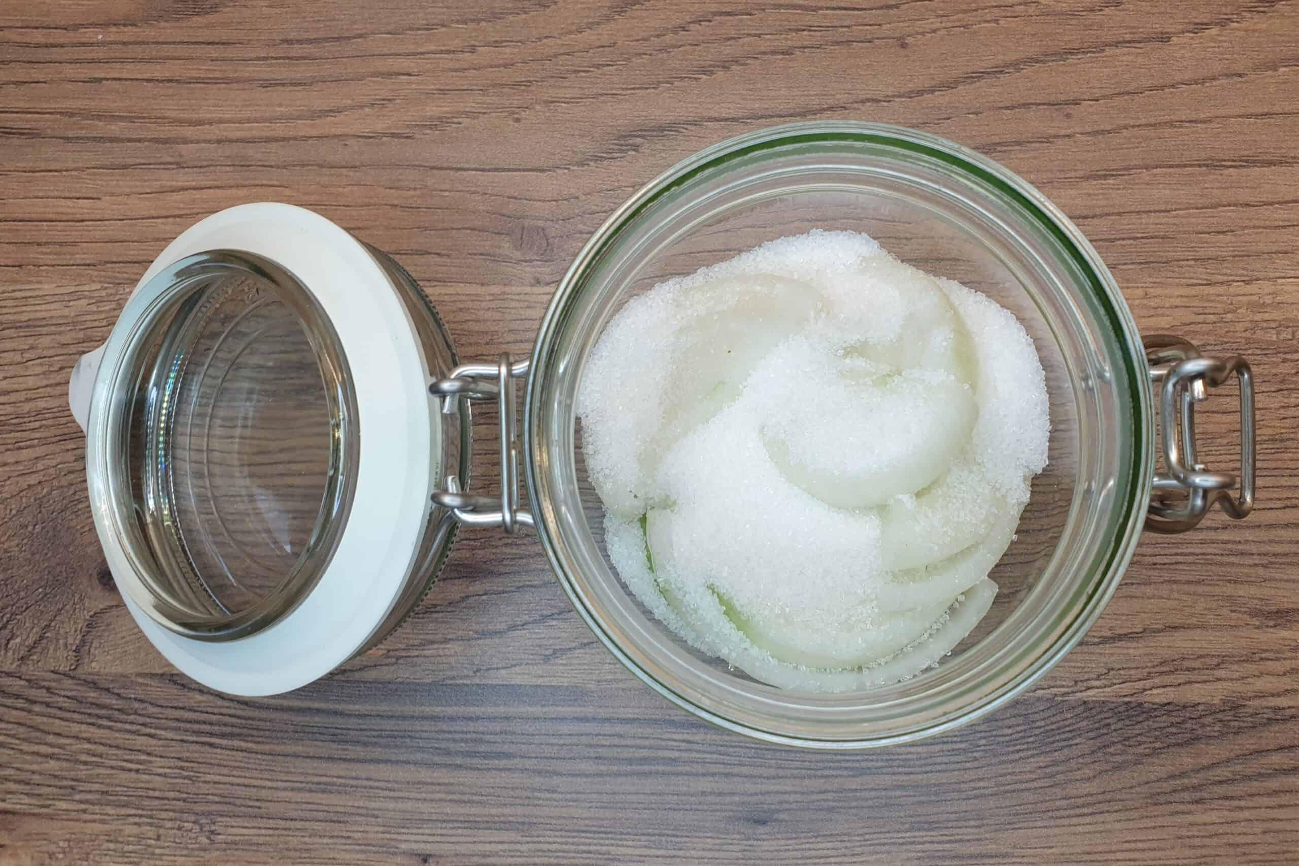 3. warstwa cukru, syrop zcebuli, Matka Aptekarka