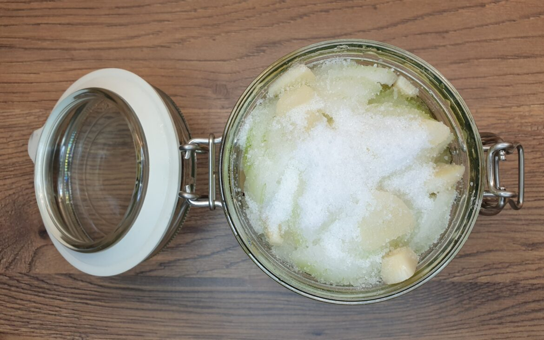 8. kolejna warstwa czosnku, imbiru, cytryny icukru, syrop zcebuli zdodatkami, Matka Aptekarka