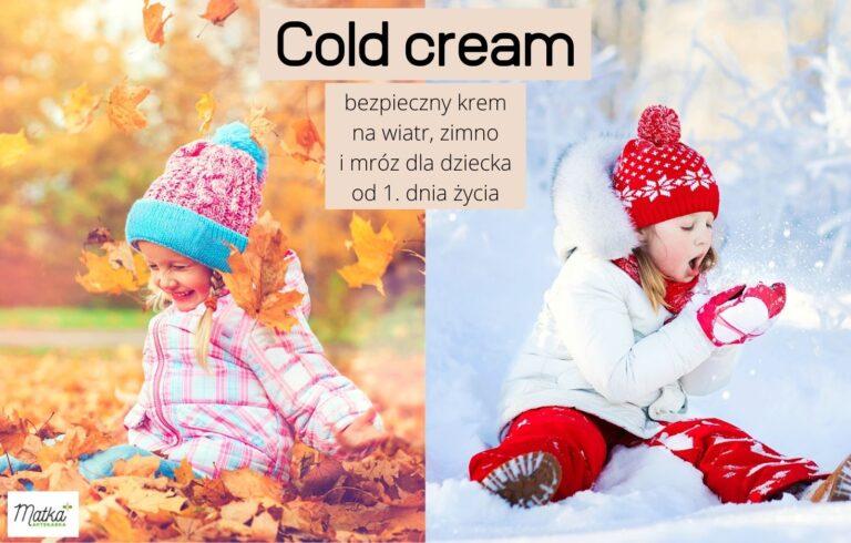 Bezpieczny krem na wiatr, zimno i mróz dla niemowląt i dzieci, krem na niepogodę z dobrym składem, Matka Aptekarka blog MA