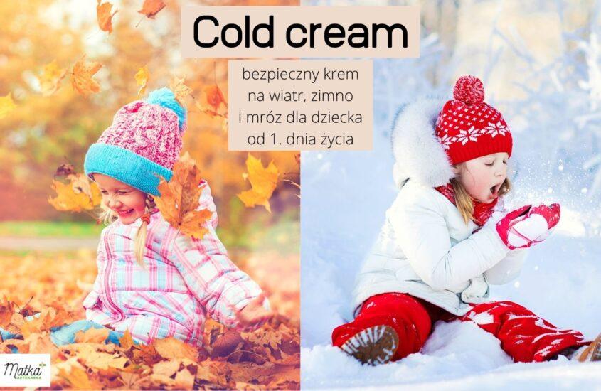 Bezpieczny krem nawiatr, zimno imróz dla niemowląt idzieci, krem naniepogodę zdobrym składem, Matka Aptekarka blog MA
