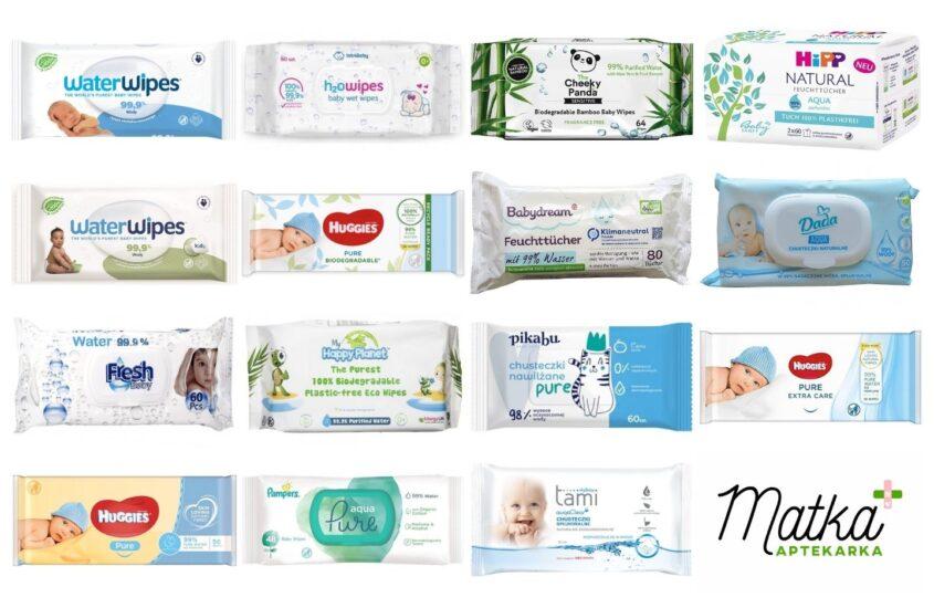 Chusteczki nawilżane typu water wipes, wodne chusteczki nawilżane, WaterWipes, H2Owipes, Cheeky Panda, Babydream, Hipp Matka Aptekarka