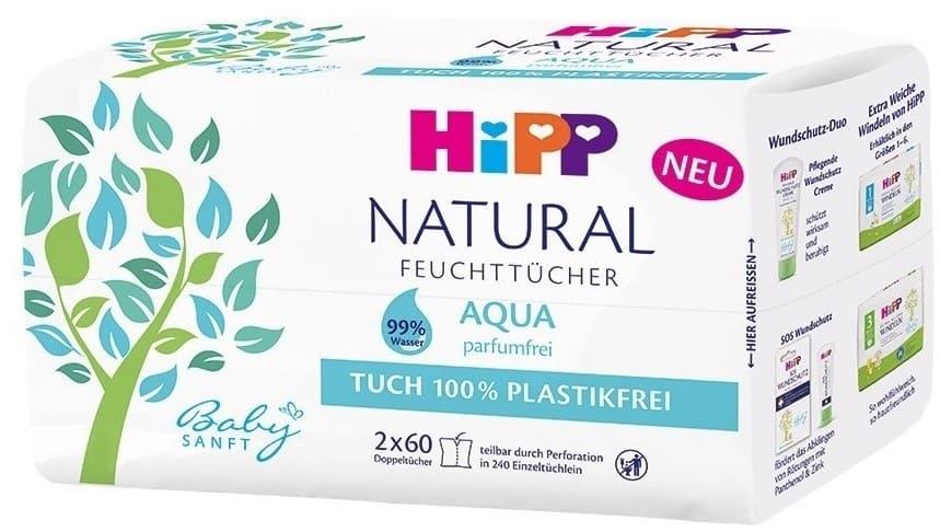 HIPP NATURAL, 99% aqua, chusteczki nawilżane, Matka Aptekarka
