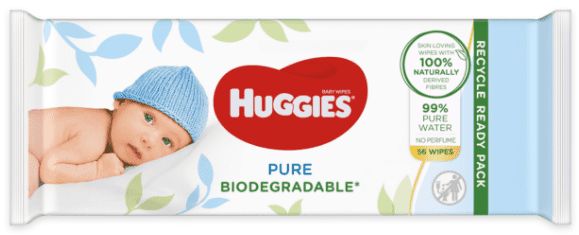 Huggies Pure Biodegradable, chusteczki nawilżane, Matka Aptekarka