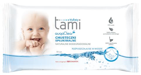 Tami My Baby, Aqua Clear, chusteczki nawilżane, Matka Aptekarka