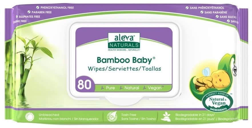 Aleva Naturals, Bamboo Baby, chusteczki nawilżające, Matka Aptekarka