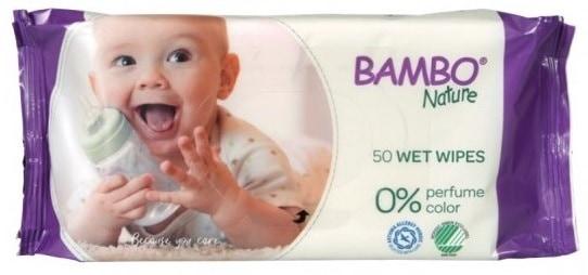 Bambo Nature, fioletowe, chusteczki nawilżane, Matka Aptekarka