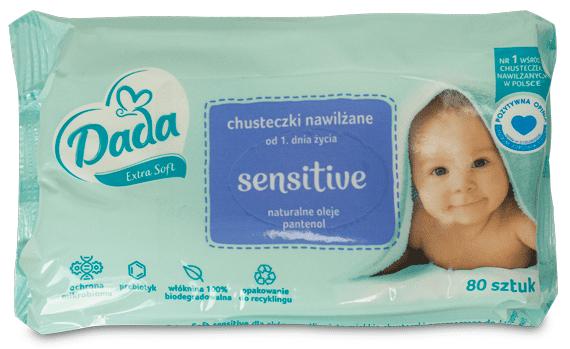 Dada Extra soft, Sensitive, chusteczki nawilżane, Matka Aptekarka