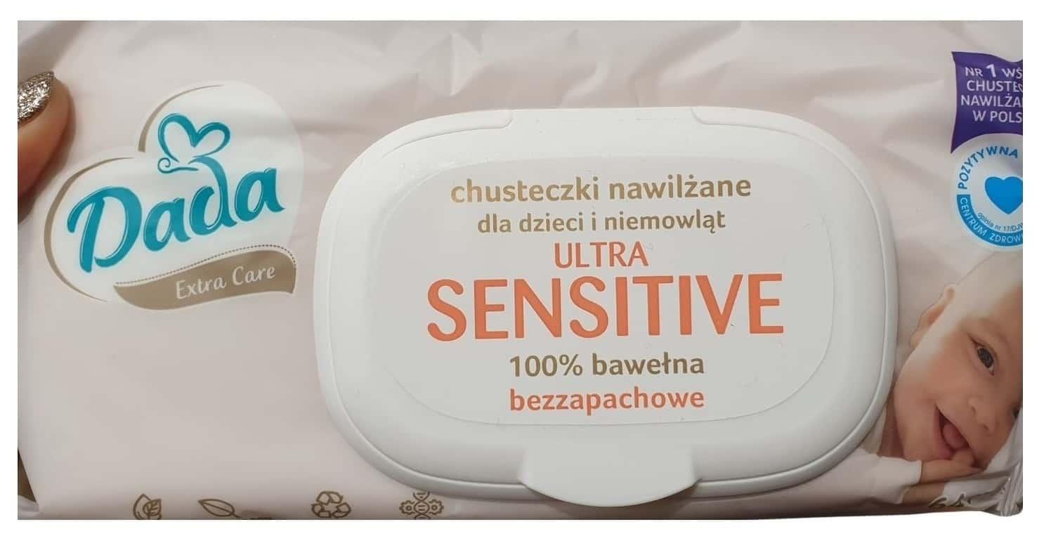 Dada, Ultra Sensitive, chusteczki nawilżane, Matka Aptekarka