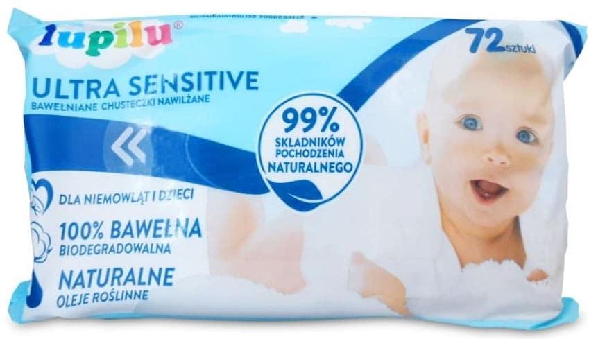 Lupilu, Ultra Sensitive, chusteczki nawilżane, Matka Aptekarka