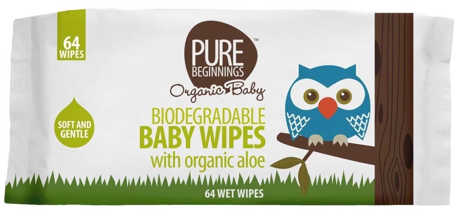 Pure Beginnings PBO, biodegradowalne chusteczki nawilżane, Matka Aptekarka