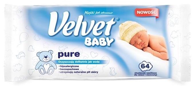Velvet Baby Pure, chusteczki nawilżane, moke chusteczki Matka Aptekarka