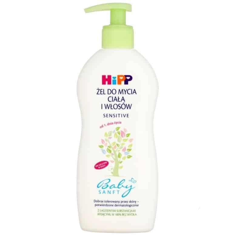 HIPP Babysanft, żel domycia ciała iwłosków od1. dnia życia, Sensitive, zpompką, Matka Aptekarka