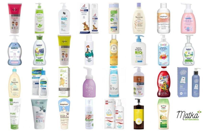 Kosmetyki domycia ikąpieli dla dzieci, naco dzień, część 2, A-E, Matka Aptekarka