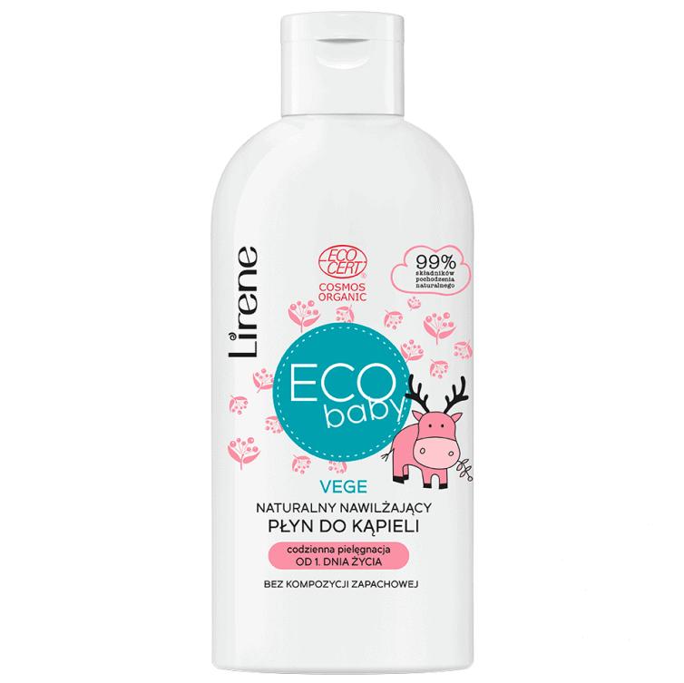 Lirene Eco Baby, VEGE, naturalny nawilżający płyn dokąpieli od1. dnia życia, delikatny, Matka Aptekarka
