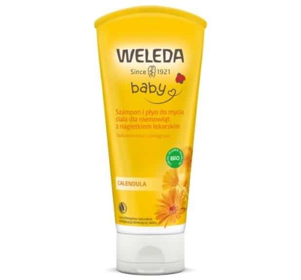 Weleda Baby, Calendula, szampon ipłyn domycia ciała dla niemowląt znagietkiem lekarskim, Matka Aptekarka