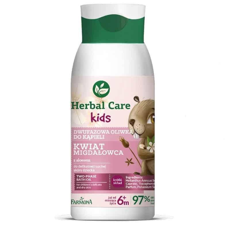 Herbal Care Kids, dwufazowa oliwka dokąpieli, kwiat migdałowca, Matka Aptekarka