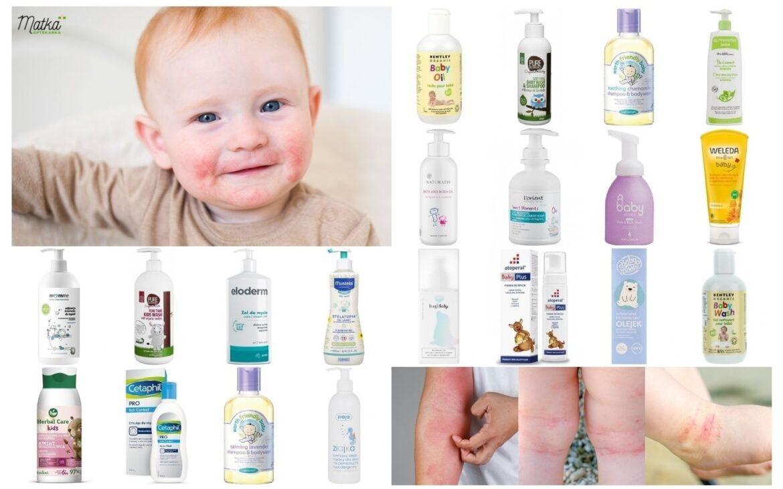 Kosmetyki domycia ikąpieli dla dzieci zeskórą atopową (AZS), wrażliwą iskłonną doalergii.