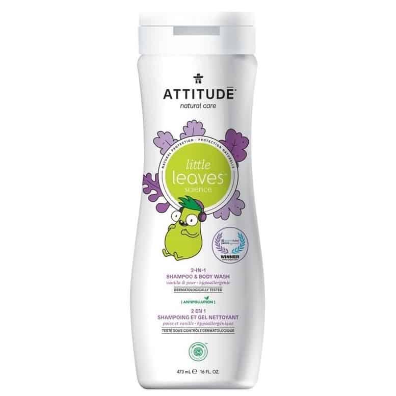 Attitude, Little Ones, płyn domycia iszampon, gruszkowy nektar iwanilia, 2w1, Matka Aptekarka