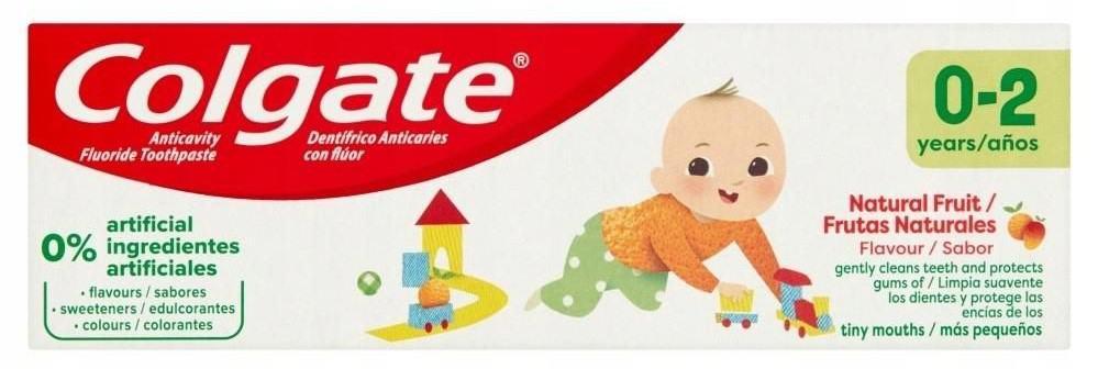 Colgate Kids, pasta dozębów dla dzieci 0-2 lata, zfluorem 1000 ppm, Matka Aptekarka