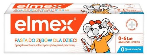 Elmex, pasta dozębów dla dzieci 0-6 lat, zfluorem 1000 ppm, Matka Aptekarka