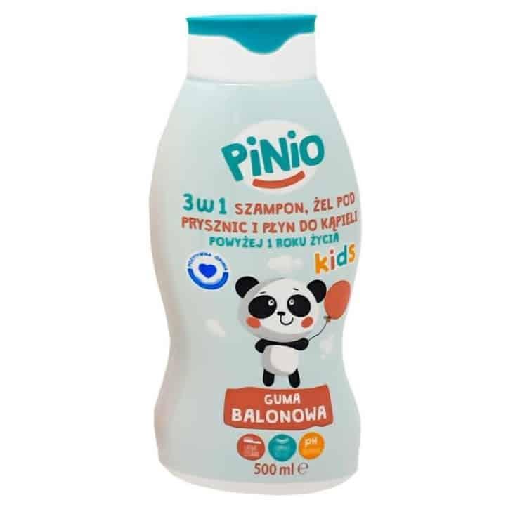 Pinio Kids, szampon, żel podprysznic ipłyn dokąpieli, 3w1, guma balonowa, Matka Aptekarka