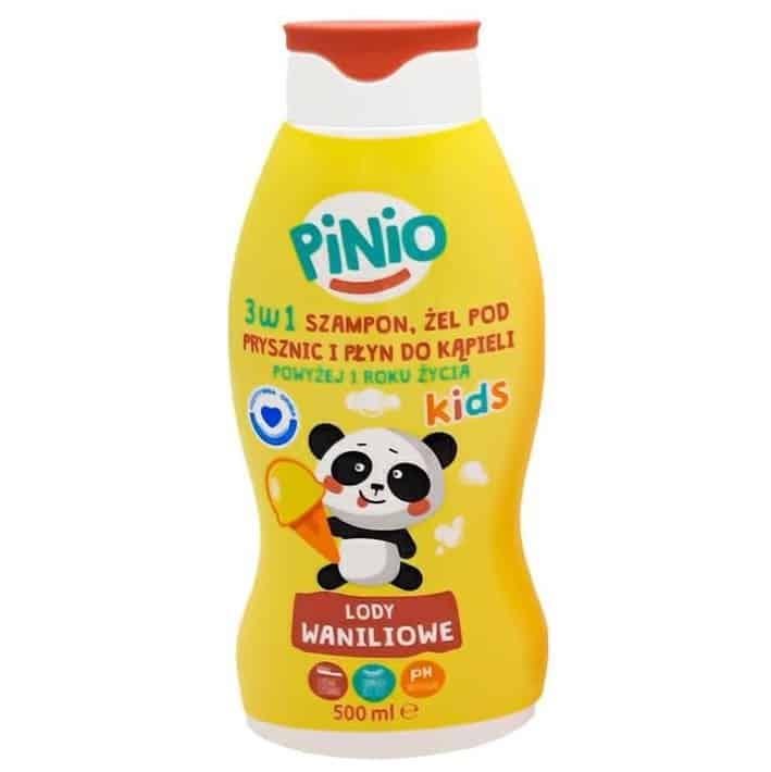Pinio Kids, szampon, żel podprysznic ipłyn dokąpieli, 3w1, lody waniliowe, Matka Aptekarka