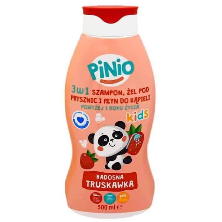 Pinio Kids, szampon, żel podprysznic ipłyn dokąpieli, 3w1, radosna truskawka, Matka Aptekarka