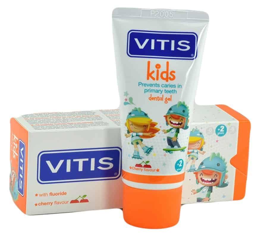 VITIS Kids, pasta wżelu domycia zębów dla dzieci, zfluorem 1000 ppm, Matka Aptekarka
