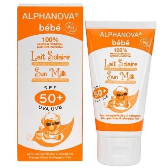 Alphanova Bebe, Sun Milk, krem przeciwsłoneczny SPF50+, Matka Aptekarka