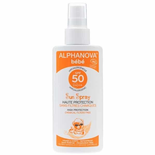 Alphanova Bebe, Sun Spray, spray przeciwsłoneczny SPF 50+, Matka Aptekarka