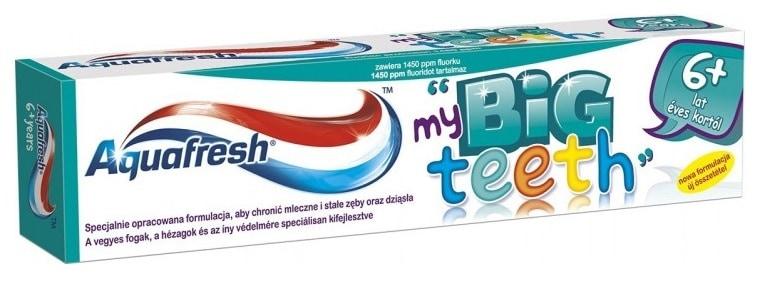Aquafresh My Big Teeth, pasta dozębów dla dzieci od6 lat, zfluorem, Matka Aptekarka