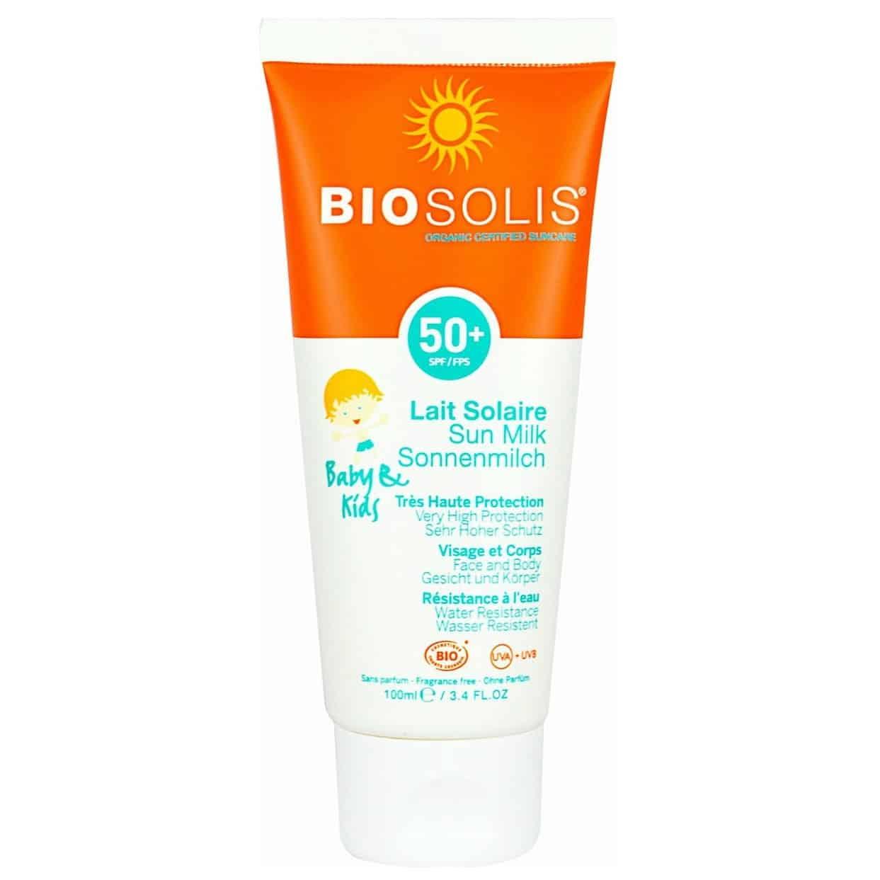 BIOSOLIS, mleczko przeciwsłoneczne dla niemowląt idzieci SPF 50+, Matka Aptekarka