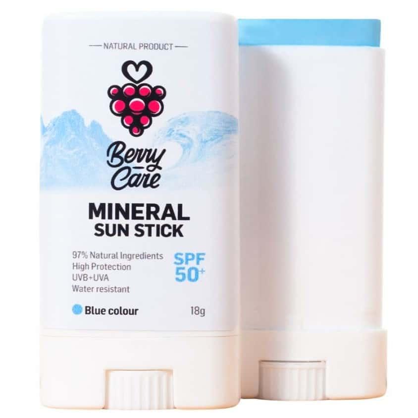 BerryCare, Mineral Sun Stick, SPF 50+, niebieski, Matka Aptekarka