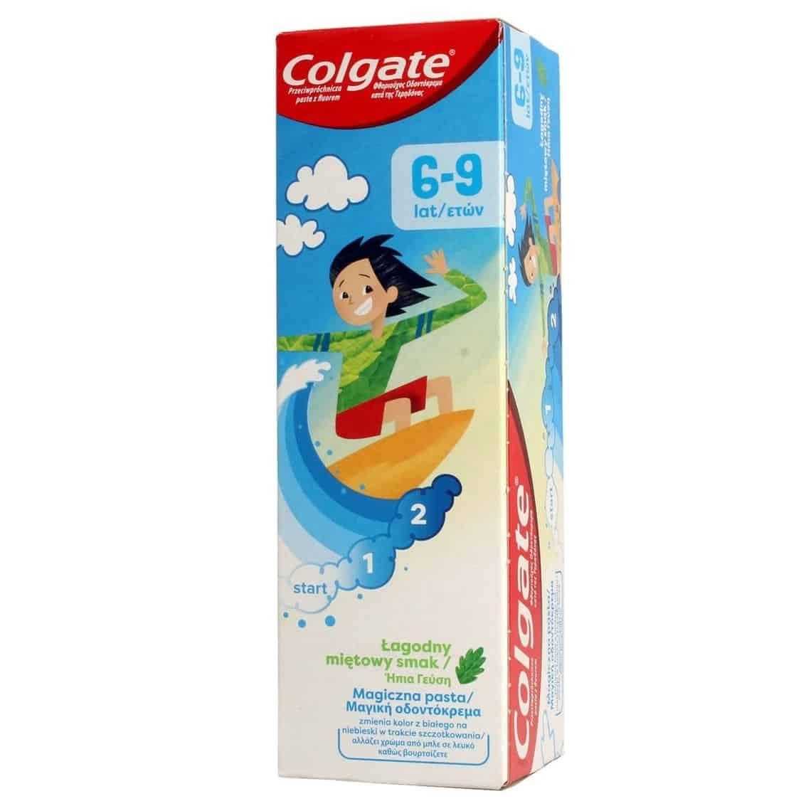 Colgate Junior, magiczna pasta dozębów dla dzieci 6-9 lat, zfluorem, Matka Aptekarka