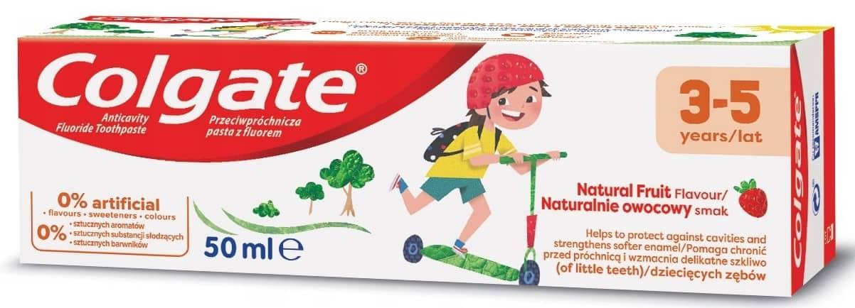 Colgate Kids, pasta dozębów dla dzieci 3-5 lat, zfluorem, Matka Aptekarka