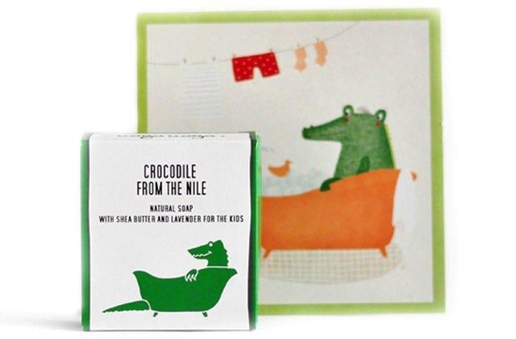Crocodile From The Nile, naturalne mydło zmasłem shea iolejem lawendowym dla dzieci, mydło wkostce, Matka Aptekarka