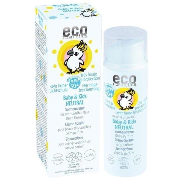 Eco Cosmetics, Baby & Kids Neutral, krem przeciwsłoneczny dla dzieci iniemowląt SPF50+, Matka Aptekarka