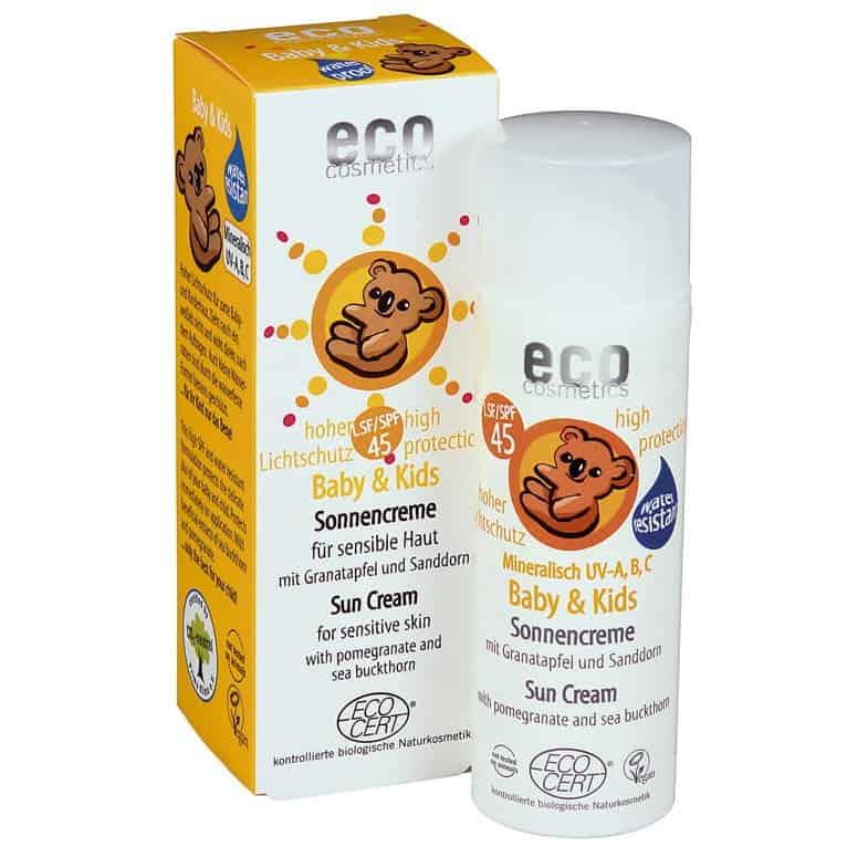 Eco Cosmetics, Baby & Kids, krem przeciwsłoneczny dla dzieci iniemowląt SPF45, Matka Aptekarka
