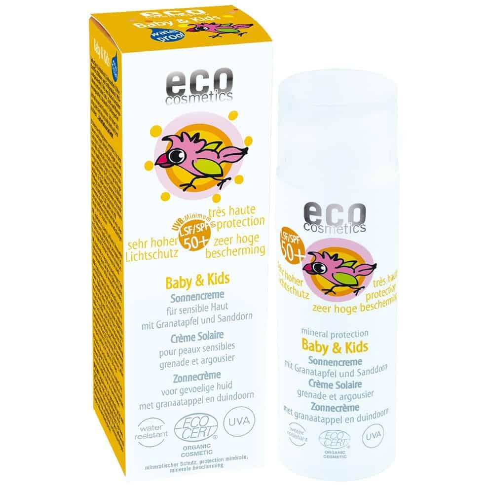 Eco Cosmetics, Baby & Kids, krem przeciwsłoneczny dla dzieci iniemowląt SPF50+, Matka Aptekarka