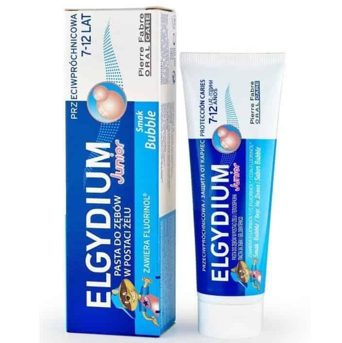 Elgydium Junior, pasta dozębów dla dzieci 7-12 lat, Bubble, zfluorem, Matka Aptekarka
