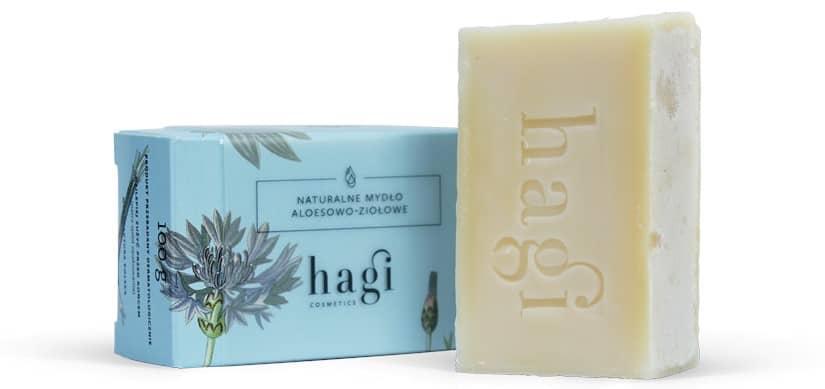 Hagi, naturalne mydło aloesowo-ziołowe, mydło wkostce, Matka Aptekarka