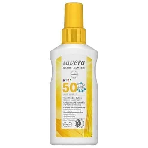 Lavera, Sensitive Sun Lotion Kids, spray przeciwsłoneczny SPF50, Matka Aptekarka