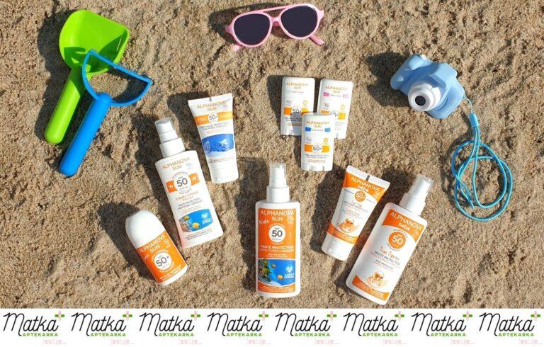 Matka Aptekarka testuje... kosmetyki przeciwsłoneczne dla dzieci i dorosłych Alphanova Sun, MAtestuje