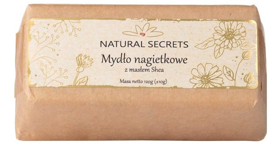 Natural Secrets, mydło nagietkowe zmasłem shea, mydło wkostce, Matka Aptekarka