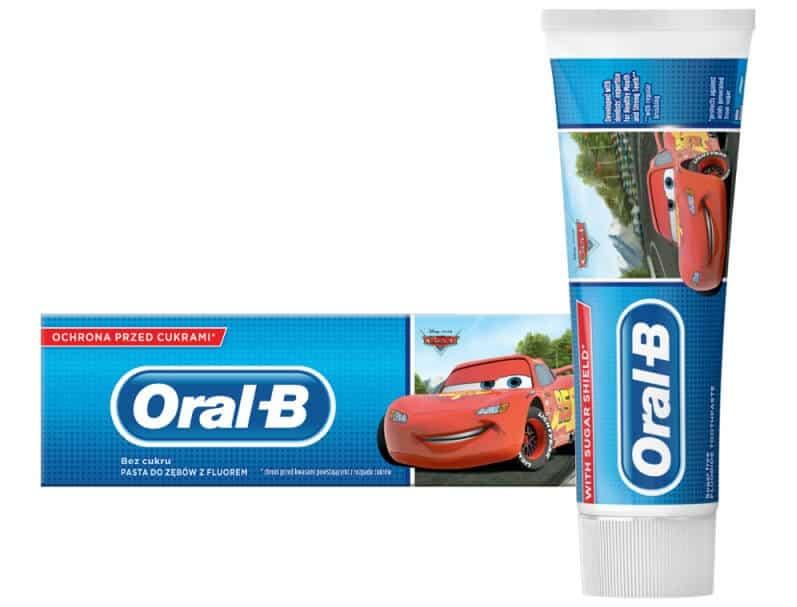 Oral-B Kids, Auta, pasta dozębów dla dzieci powyżej 3 lat, zfluorem, Matka Aptekarka