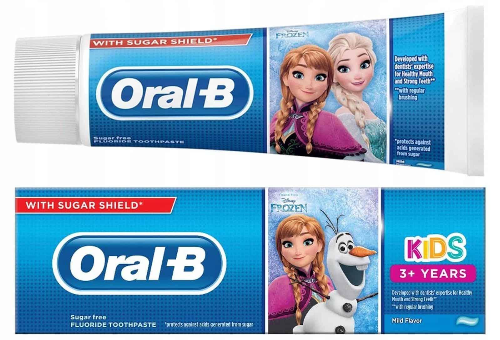 Oral-B Kids, Frozen, pasta dozębów dla dzieci powyżej 3 lat, zfluorem, Matka Aptekarka