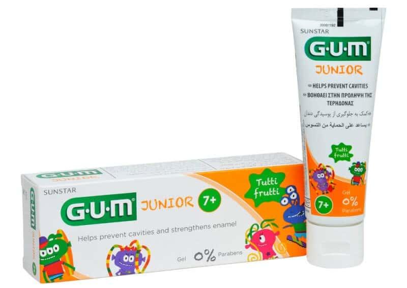 Sunstar Gum Junior, pasta dozębów dla dzieci 7 lat+, zfluorem, Matka Aptekarka