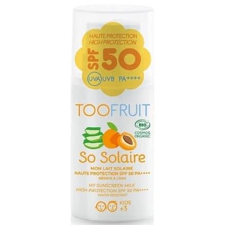 Toofruit, organiczny balsam przeciwsłoneczny dla dzieci SPF 50, Matka Aptekarka