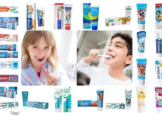 Zestawienie past do zębów dla dziecka w wieku powyżej 6 lat, 1450 ppm, z fluorem, Matka Aptekarka